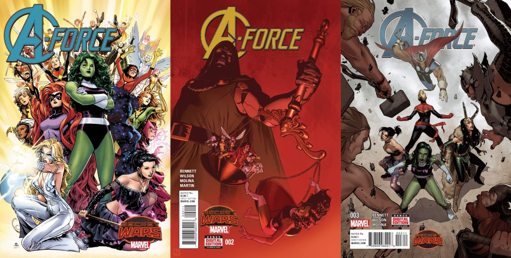A-Force (2015) Issues #1-3