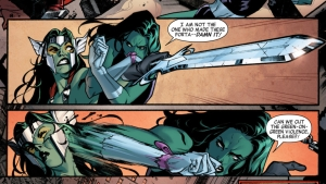 It's not easy being green: She-Hulk vs GaThora